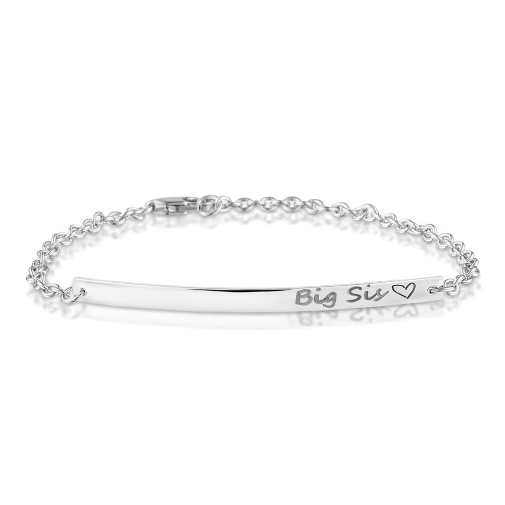 zilveren graveer armbandje 419 S / 5cm