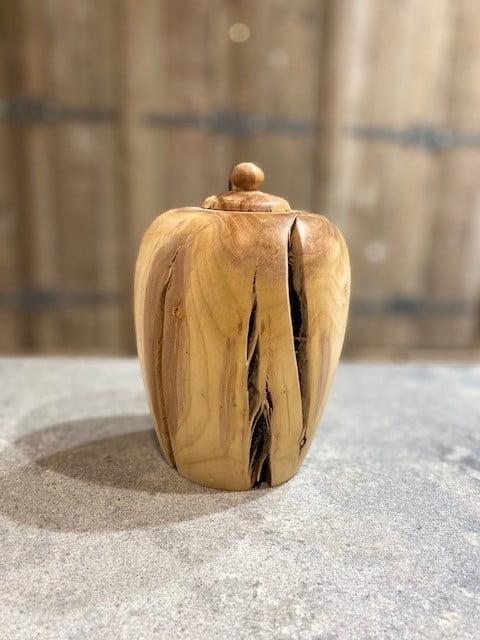 houten urn rode beuk natuur urn