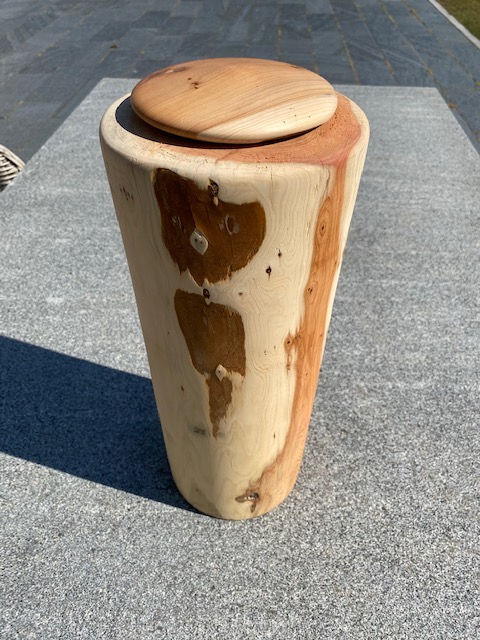 taxus gestreepte hoge natuur urn hout XL