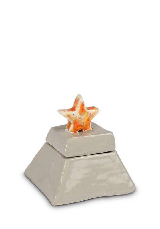 Zeester keramiek urn met deksel