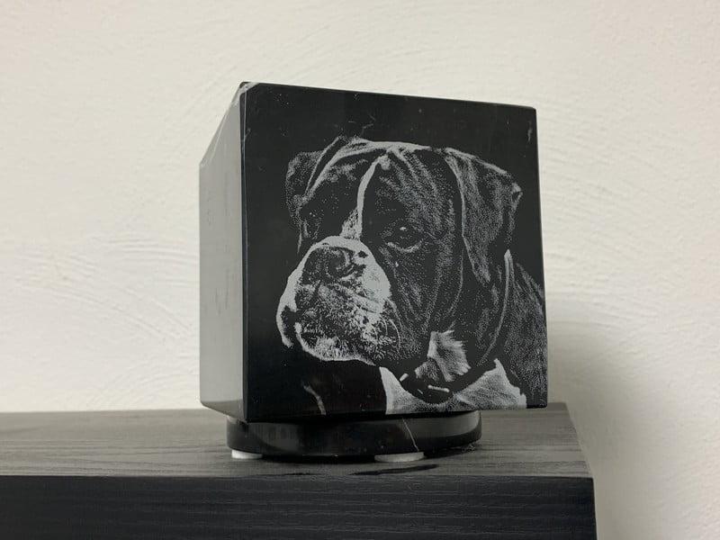 cubos urn met laser foto