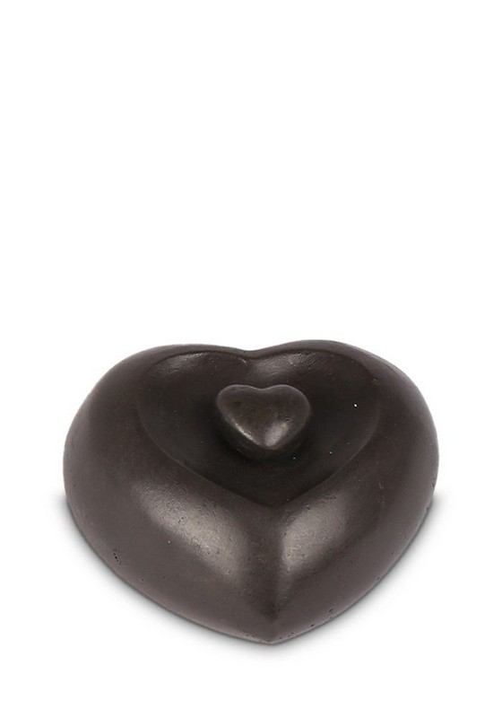 harten in brons mini urn urnenhemel
