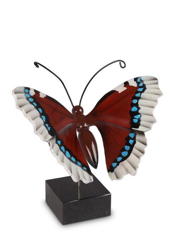 houten vlinder serie urn op sokkel