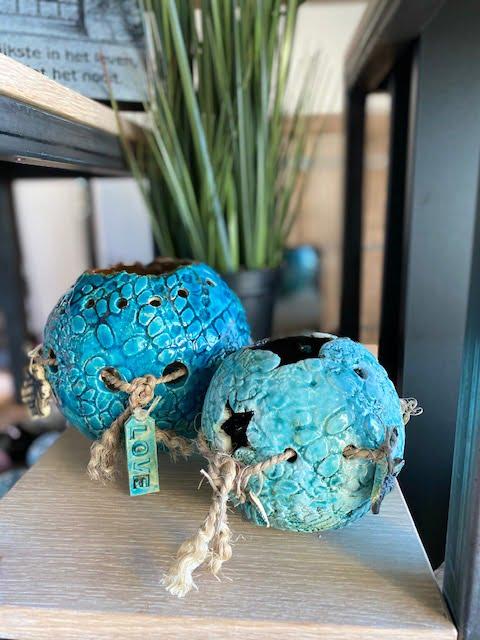 windlicht urn serie ibiza turquoise