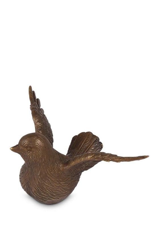 vogels in brons mini urn