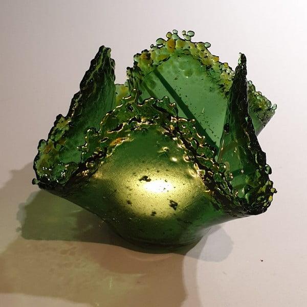 glasfusing art windlicht met as