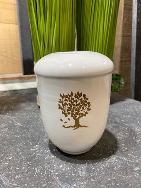 Gouden levensboom mini urn windlicht