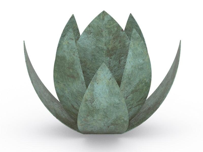 RVS urn bloem LOTUS