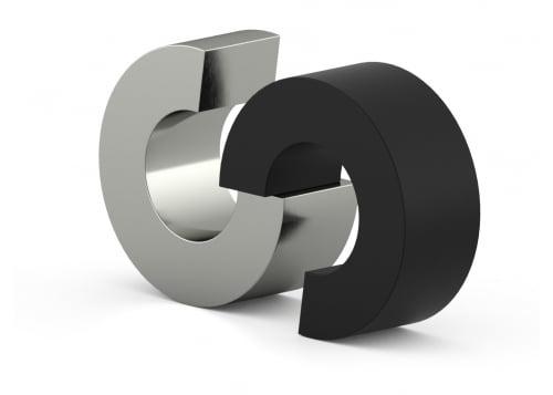 RVS urn circles twee delen