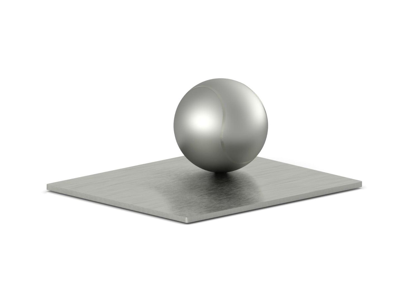 RVS urn tennisbal met voetplaat