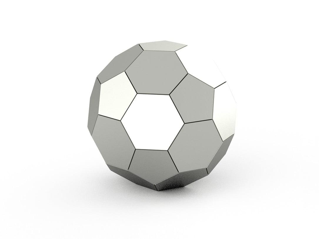 rvs urn voetbal
