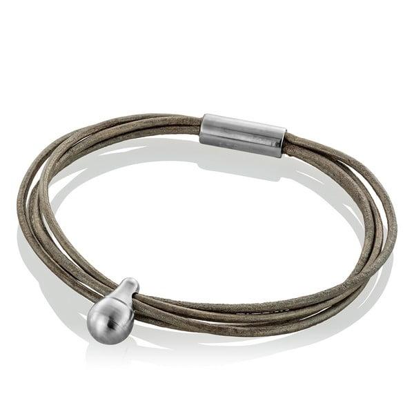 gedenk armband traan met leer tadblu