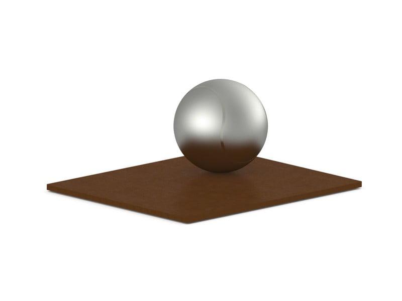 rvs urn tennisbal met