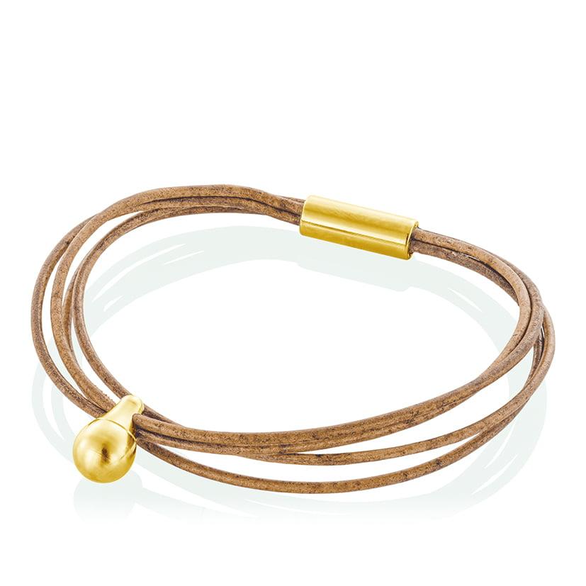 gednek armband traan met leer tadblu