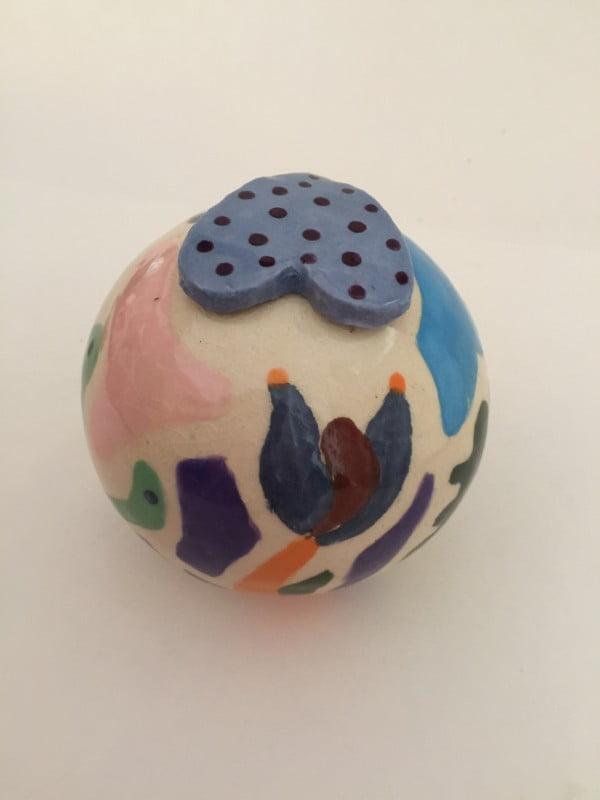 mini urn keramiek flowers