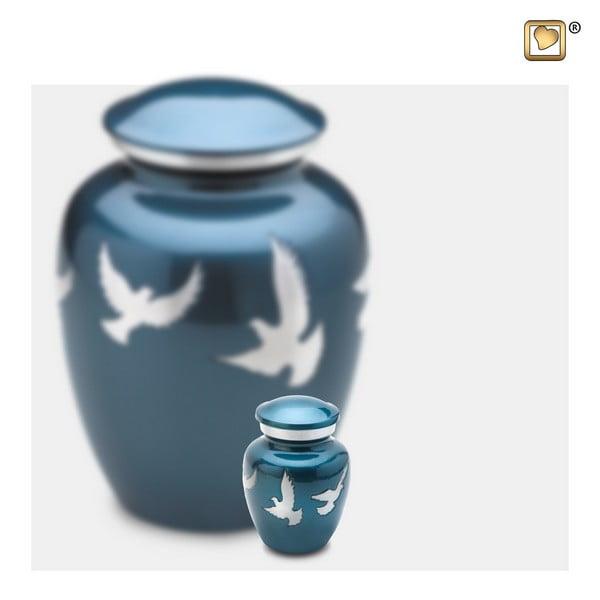 blauw vogel urn keepsake Adieu Nirvana Collection