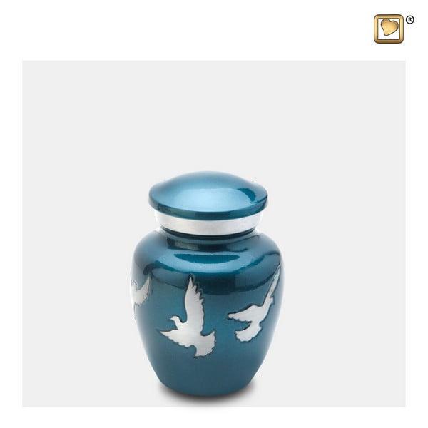 blauwe vogel urn keepsake Adieu Nirvana Collection