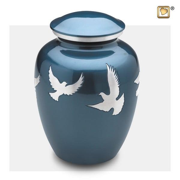 blauwe vogel urn divine flying-doves-collection A572 urnenhemel