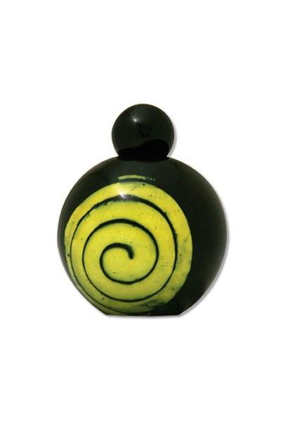 spiraal glas urn zwart